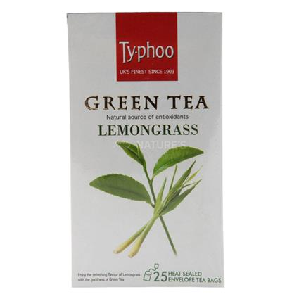 Green Tea Lemongrass Tea  -  25 TB - Typhoo