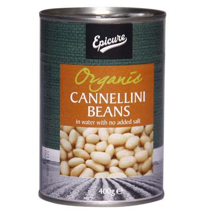 Organic Cannellini Beans In Water  -  No Added Salt - Epicure