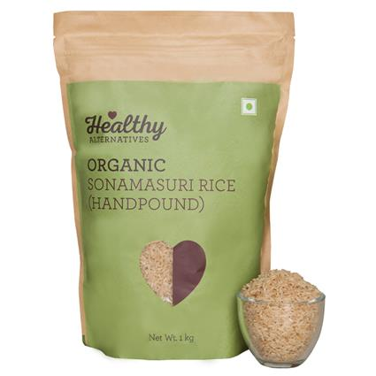 Organic Sonamasuri Rice Handpound - Healthy Alternatives