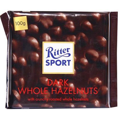 Dark Whole Hazelnut Chocolate Bar - Ritter Sport