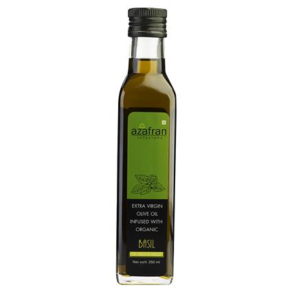 Extra Virgin Olive Oil Infused W/ Organic Basil - Azafran