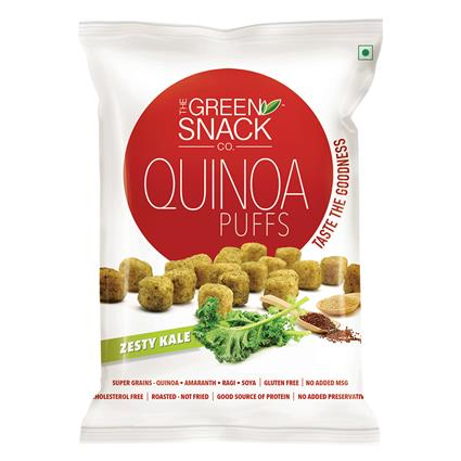 Quinoa Puffs Zesty Kale  - The Green Snack Co