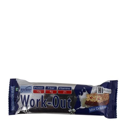 Work - Out Hi Protein Mix Double Bar - Ritebite