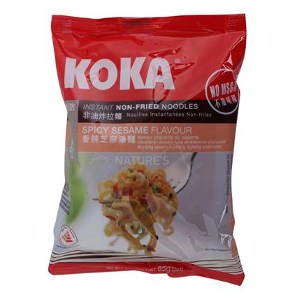 Instant Non - Fried Noodles  -  Spicy Sesame Flavor - Koka