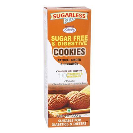 Ginger Cinnamon Snaps Cookies - Sugarless Bliss