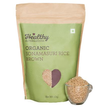 Organic Sonamasuri Rice Brown - Healthy Alternatives