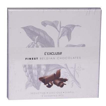 Finest Belgium Chocolate 9Pcs - L'exclusif