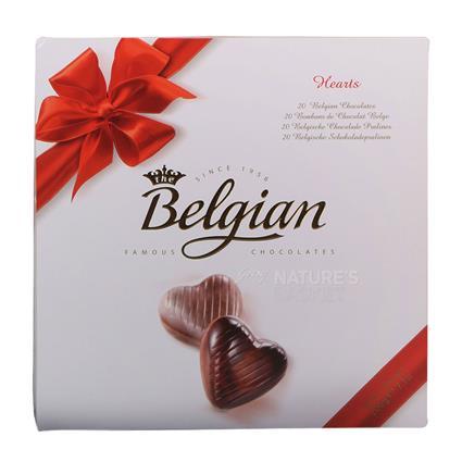 BELGIUM CHOC HEARTS 200G