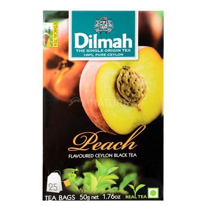 Peach Flavoured Ceylon Black Tea - 25Tb - Dilmah