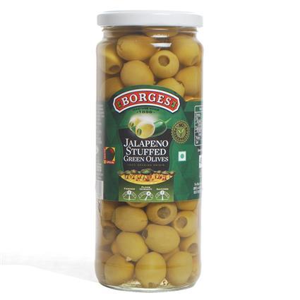 Olives Green Jalapeno Stuff - Borges