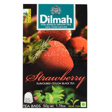 Strawberry Flavoured Ceylon Black Tea - 25 Tb - Dilmah