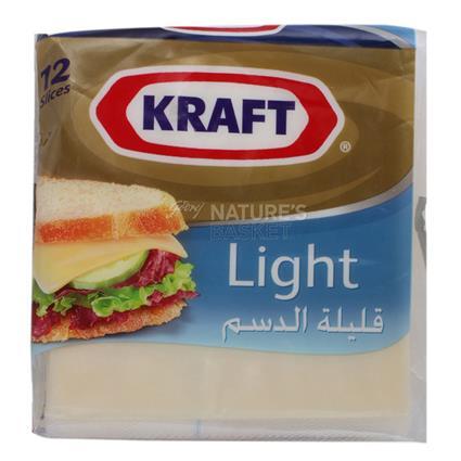 Singles Light Cheese Slice - 12 Pcs - Kraft
