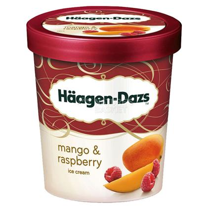 Mango & Raspberry Ice Cream - Haagen - Dazs