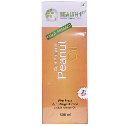 HEALTH1ST PEANUT OIL COLDPRSSD EV 500ML