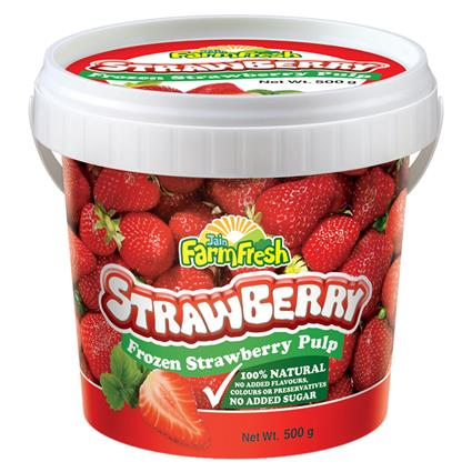 Frozen Strawberry Pulp - Jain Farm Fresh