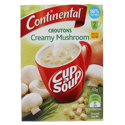Cup -  A - Soup  -  Croutons Creamy Mushroom 98% Fat Free - Continental