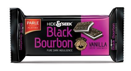 Black Bourbon Vanilla Cream Biscuits - Parle