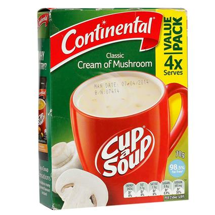 CONTINENTAL CUP-A-SOUP CRM OF MUSHRM 70G