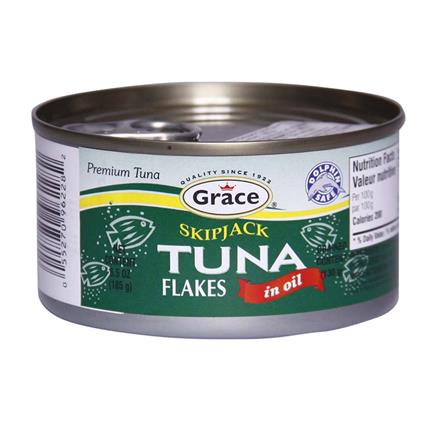 GRACE SKIPJACK TUNA FLAKES IN OIL 185G