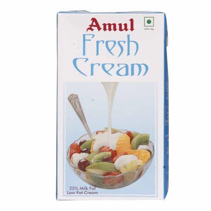 Fresh Cream  -  Low Fat Cream - Amul