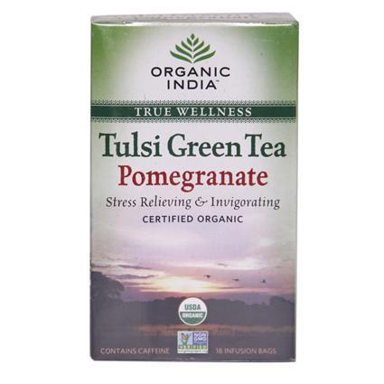 Tulsi Pomegranate Green Tea - 18TB - Organic India