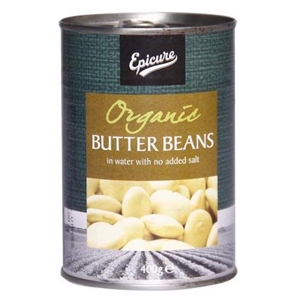 Organic Butter Beans In Water  - No Added Salt - Epicure