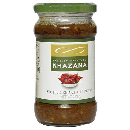 Stuffed Red Chili Pickle - Sanjeev Kapoors Khazana