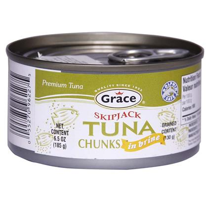 GRACE SKIPJACK TUNA CHUNKS IN BRINE 185G