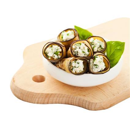 Rolled Aubergine W/ Feta & Herbs