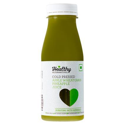 Wheatgrass Apple Cold Pressed Juice - Healthy Alternatives