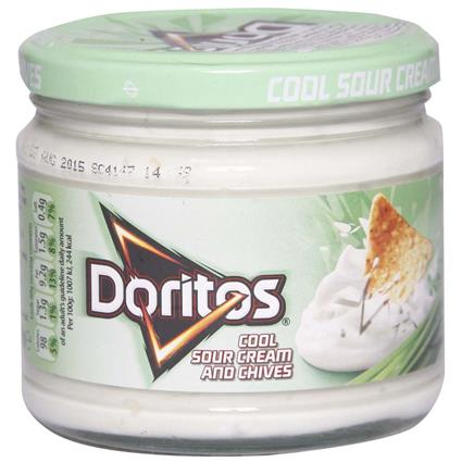 DORITOS COOL SOUR CR. & CHIVES DIP 300G