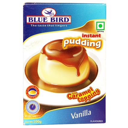 Vanilla Instant Pudding W/ Caramel Topping - Blue Bird