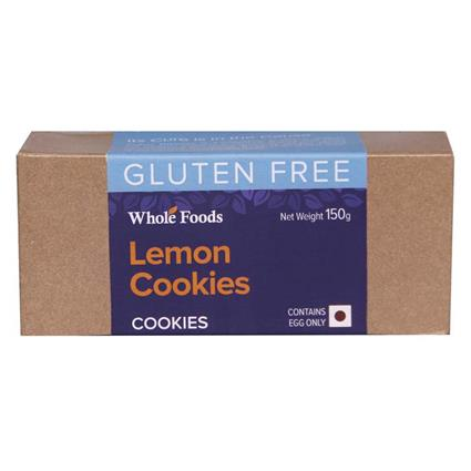 Lemon Cookies  -  Gluten Free - Wholefood