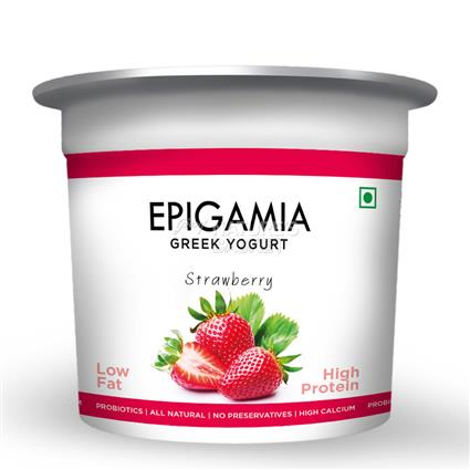 Strawberry Greek Yoghurt - EPIGAMIA