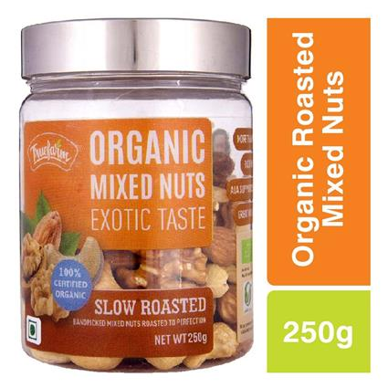 TRUEFARM ORGANIC ROASTED MIXED NUTS 250G