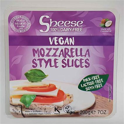 SHEESE SLICED MOZZARELLA STYLE 200G