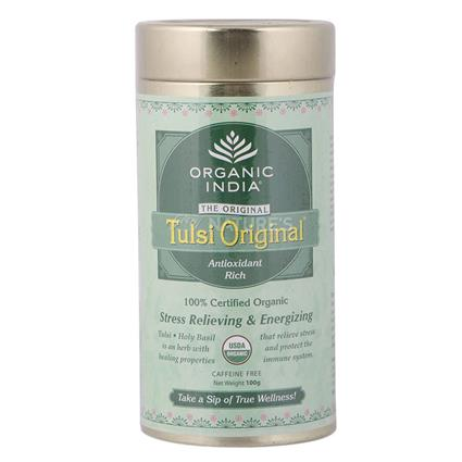 ORGANIC INDIA TULSI TEA TIN 100G