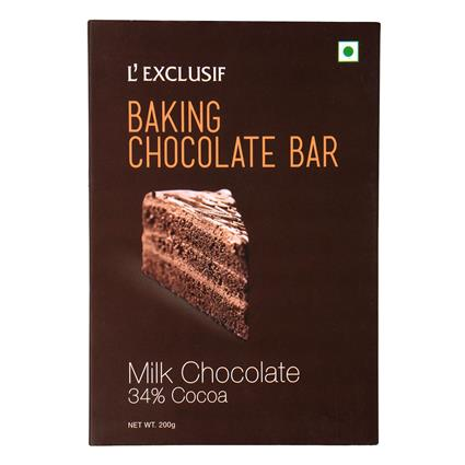L EXCLUSIF BAKING BAR MILK 200G