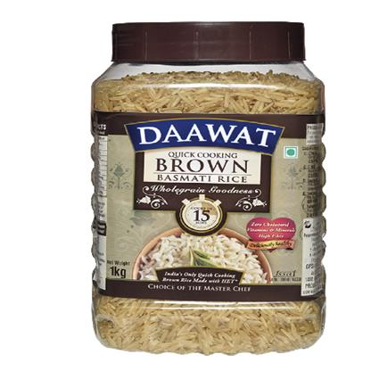 DAAWAT BROWN BASMATI RICE  JAR 1Kg