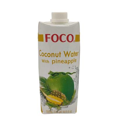 FOCO COCONUT WTR WITH PINEAPPLE 500Ml