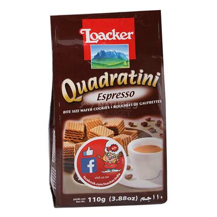 Quadratini Espresso Wafers - Loacker