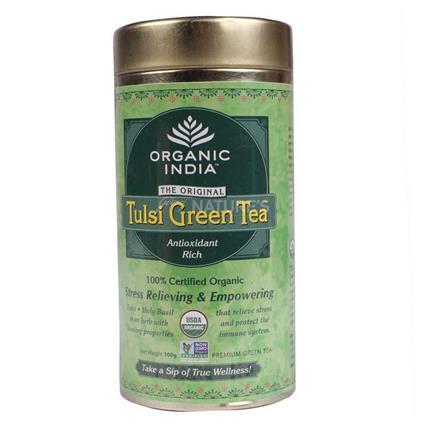 ORGANIC INDIA TULSI GREEN TEA TIN 100G