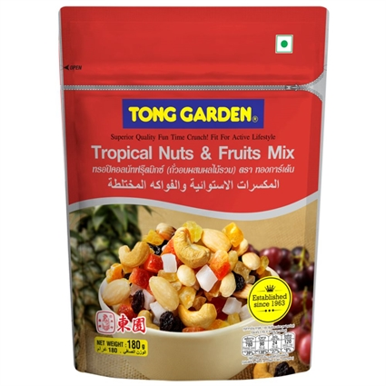 TONG GARDEN TROPICAL NUTS&FRUIT MIX 180g