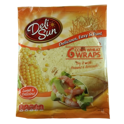 DELISUN SMALL FLOUR TORTILLAS WRAPS 320G