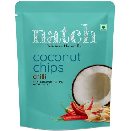 NATCH COCONUT CHIPS CHILLI 40G