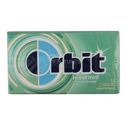 ORBIT SWEET MINT SUGARFREE GUM 14 PCS