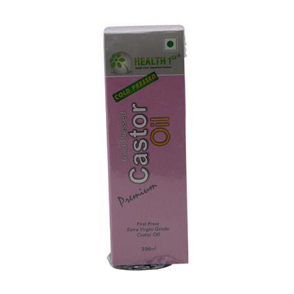 HEALTH1ST CASTOR OIL COLD PRSSD EV 200ML