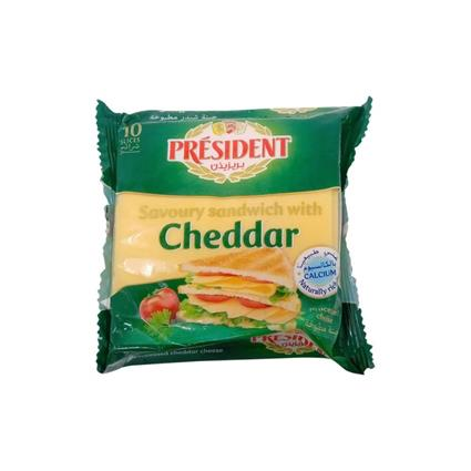 PRESIDENT SANDWICH CHEDDAR SLICES 200GMS