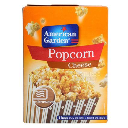 Microwave Cheese Popcorn  -  Pack Of 3 Bags - American Garden