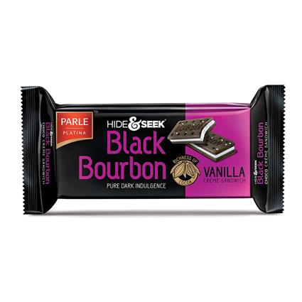 Black Bourbon Vanilla Cream Biscuits - Parle